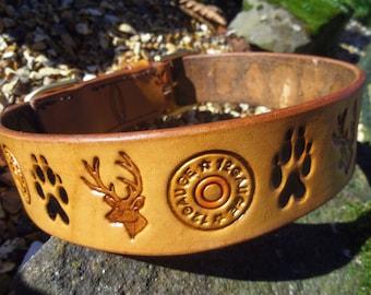 DOG COLLAR 'HUNTER' Handmade