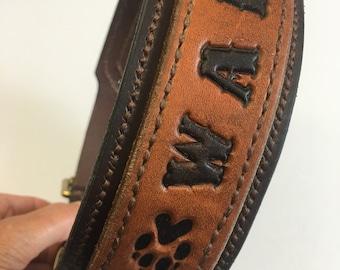 """Dog Collar """"WALKIES""""  Handmade"""