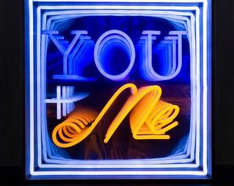 Blau Trust ME Love ME Fuck ME Neonlicht Zeichen Lampen leuchtschild f/ür Bar Party Zimmer