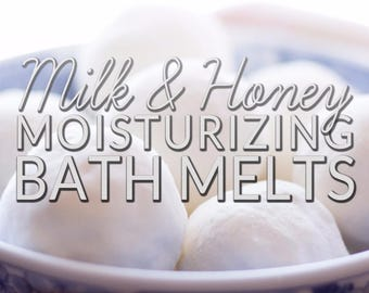 Milk and Honey Bath Melts - for a silky, moisturizing milk and honey bath