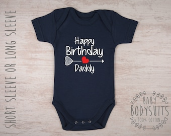 Happy Birthday Daddy Baby Shirt Dad Gift Gifts For Boy Bodysuit Girl Outfit