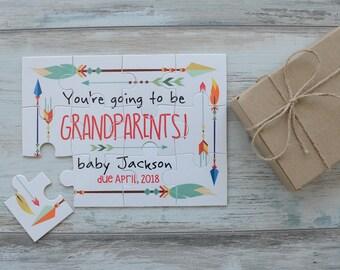 pregnancy reveal to grandparents etsy
