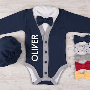 Tan /& Brown Cardigan Bodysuit with Bow Tie Set Thanksgiving Last One It/'s perfect for Autumn Photos 1st Birthday or Coming Home Outfit.