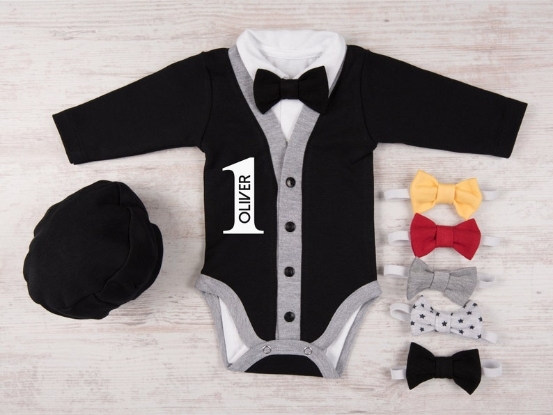 One Year Old Boy Birthday Outfit Personalized Baby