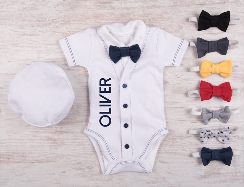 0fd75637f COMING HOME OUTFIT Boy Personalized Cardigan Short Sleeve or