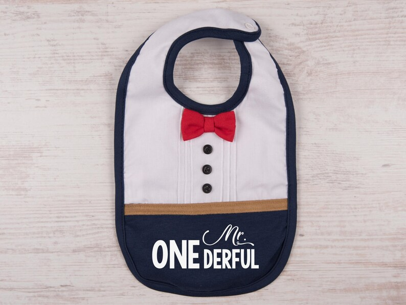 Birthday Gift For Baby Boy Mr ONEderful Bib First