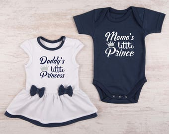 Twins Baby Gifts, Baby Twin Outfits, Baby Girl Bodysuit Dress & Baby Boy Bodysuit Set, Boy and Girl Twin Outfits, Twin Baby Clothes