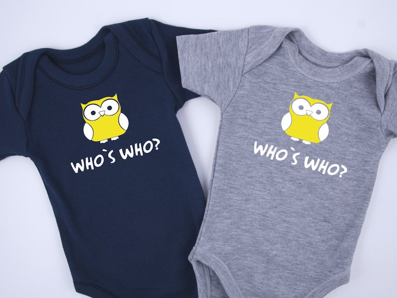 df293de419d Identical Twin Boy Outfits WHO IS WHO Funny Twin Outfits
