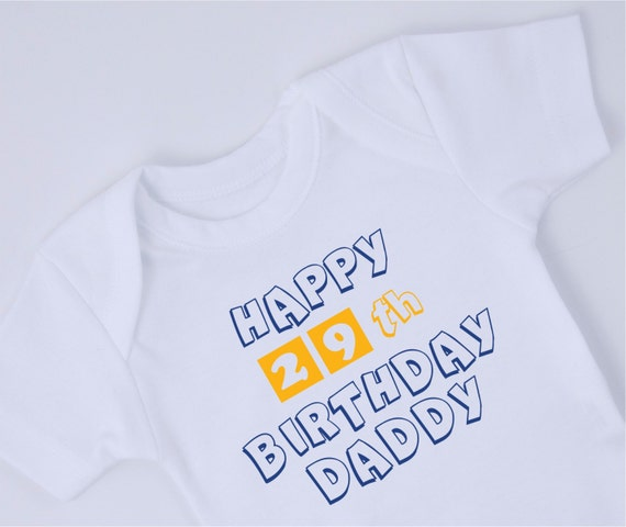 HAPPY BIRTHDAY DADDY Baby Bodysuit New Dad Birthday Gift