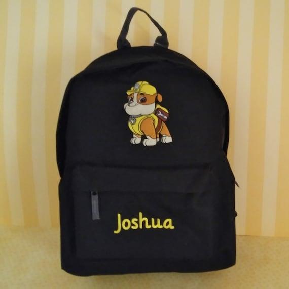 Personalised Kids Backpack Any Name Paw Patrol World Boys Childrens School Bag 8