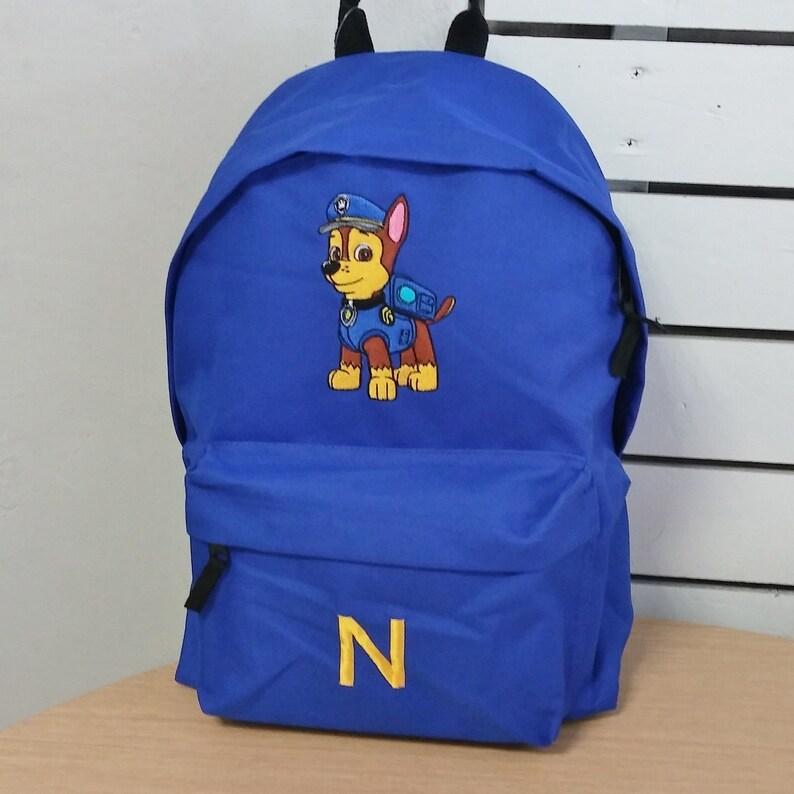 LITTLE MONKEY Any Name Gift NEW PERSONALISED BOYS BACKPACK BAG RUCKSACK