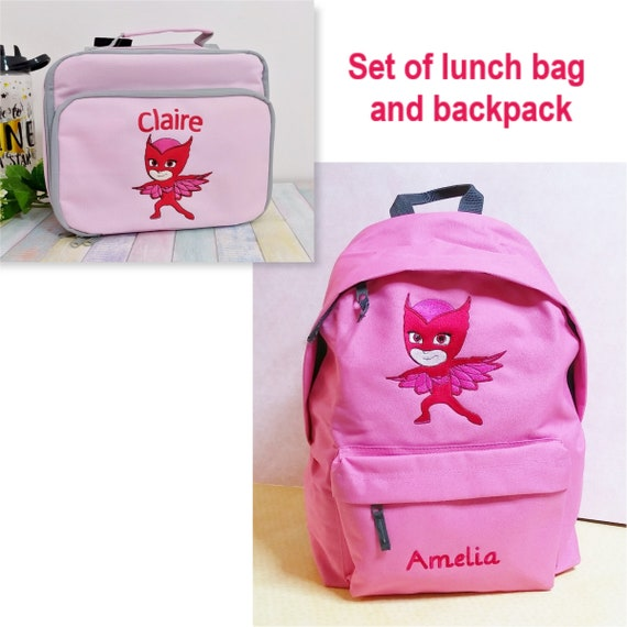 Thundercats school Personalized ideal for sports Set of backpack and lunch bag for kids machine embroidered