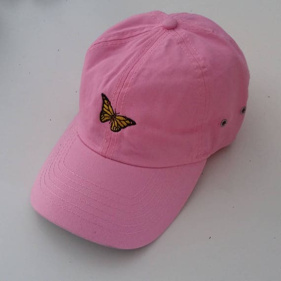 nouveau style 68a11 321b5 Monarch butterfly, dad hat, Cap embroidery, casquette, Dad cap,  unstructured, machine embroidered, Adjustable Brass Buckle in back of hat