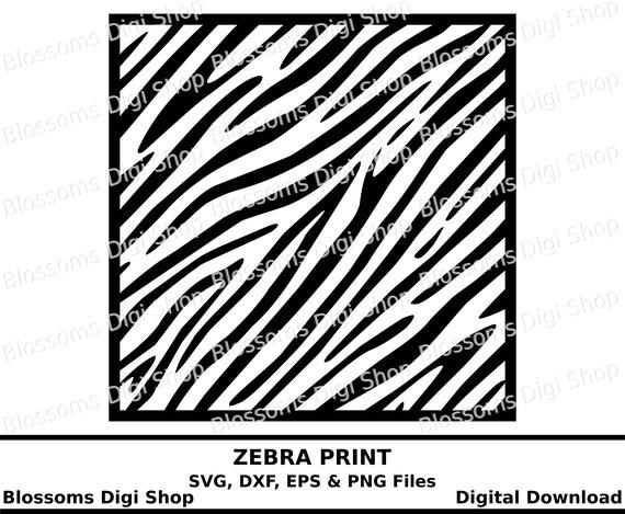 Zebra Print Svg Svg Cut File Digital Download Animal Print Etsy