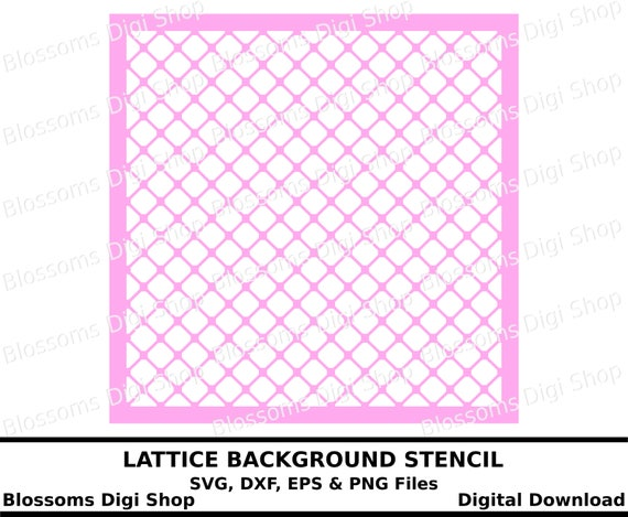 Lattice stencil svg cut file digital downloadbackground svg | Etsy