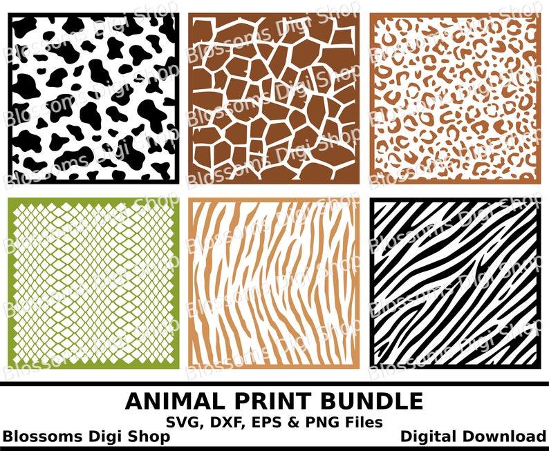 Animal Print Svg Bundle Digital Download Eps Vector File Etsy