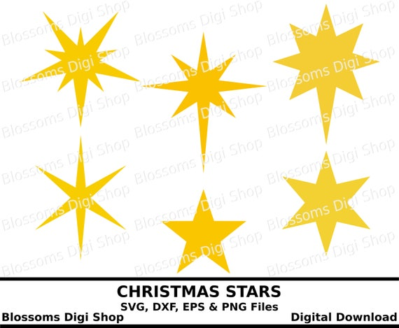 Christmas Star Images Clip Art.Christmas Stars Svg Star Download Pointed Star Star Template Star Cut File Star Clipart Star Stencil Cricut Svg Silhouette Cameo Svg