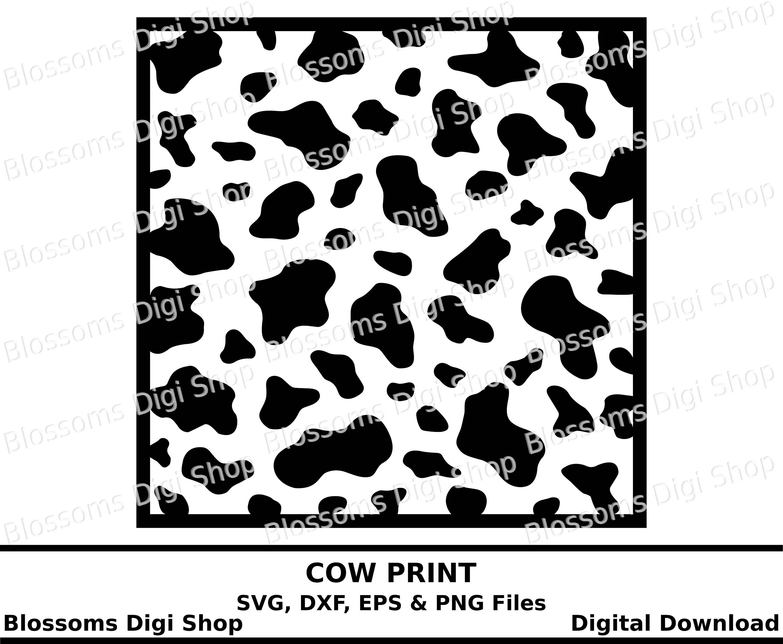 Cow print svg digital download animal print template eps etsy image 0 maxwellsz