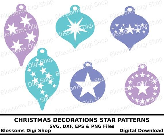 Christmas Decoration Svg Digital Download Bauble Cut File Etsy
