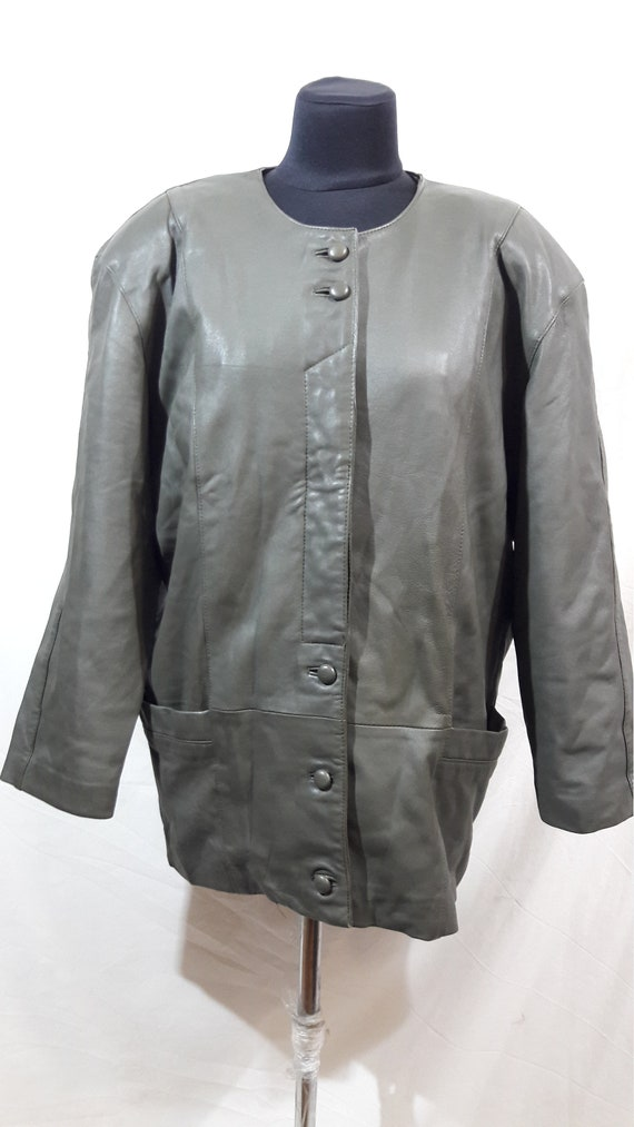 Women's leather jacket. Women's jacket without a c