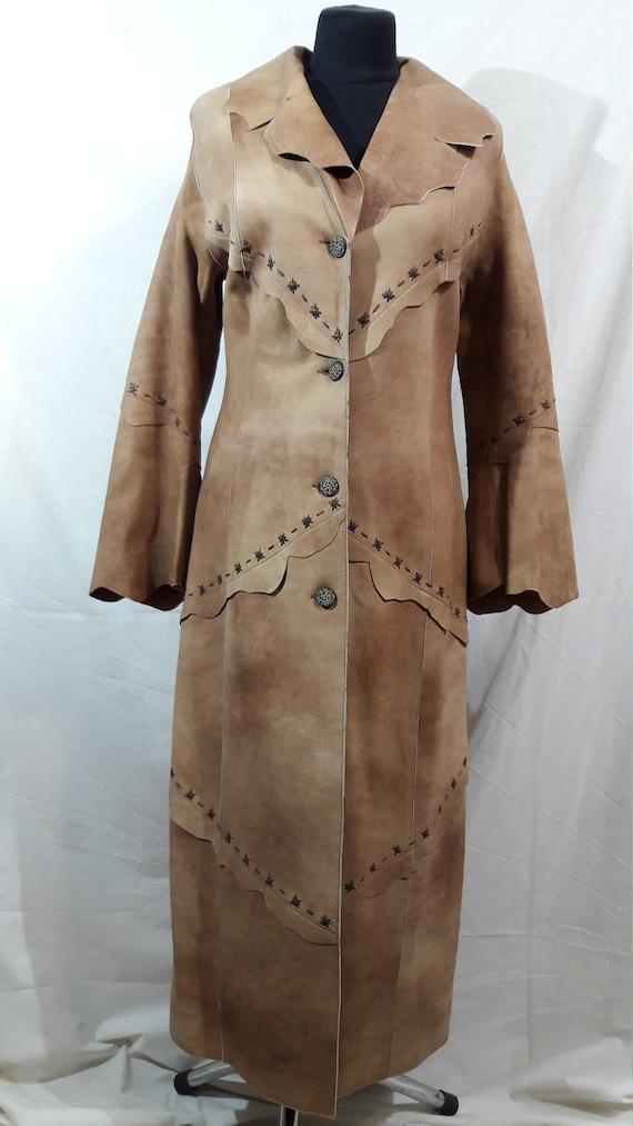 Incredible women's light brown cloak. Women's long