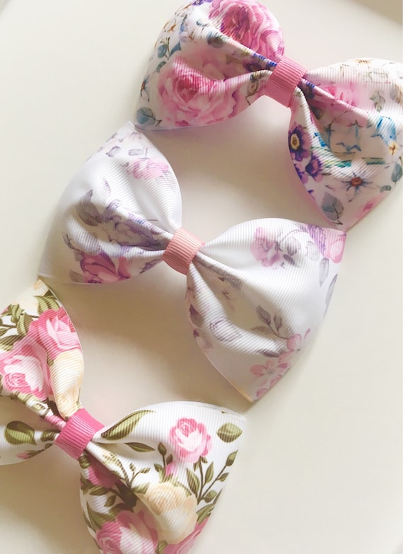 X-Large Girl Flower Hair Bow Alligator Clip Bobble Summer Party Hair Accessories