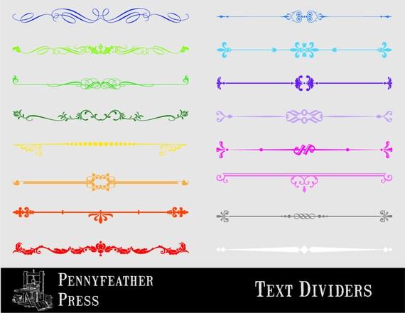 Testo Decorativo Multicolore Divisori Colore Imposta Testo Etsy