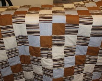 Baby blue stripe quilt