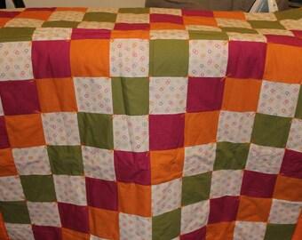 Orange crush quilt