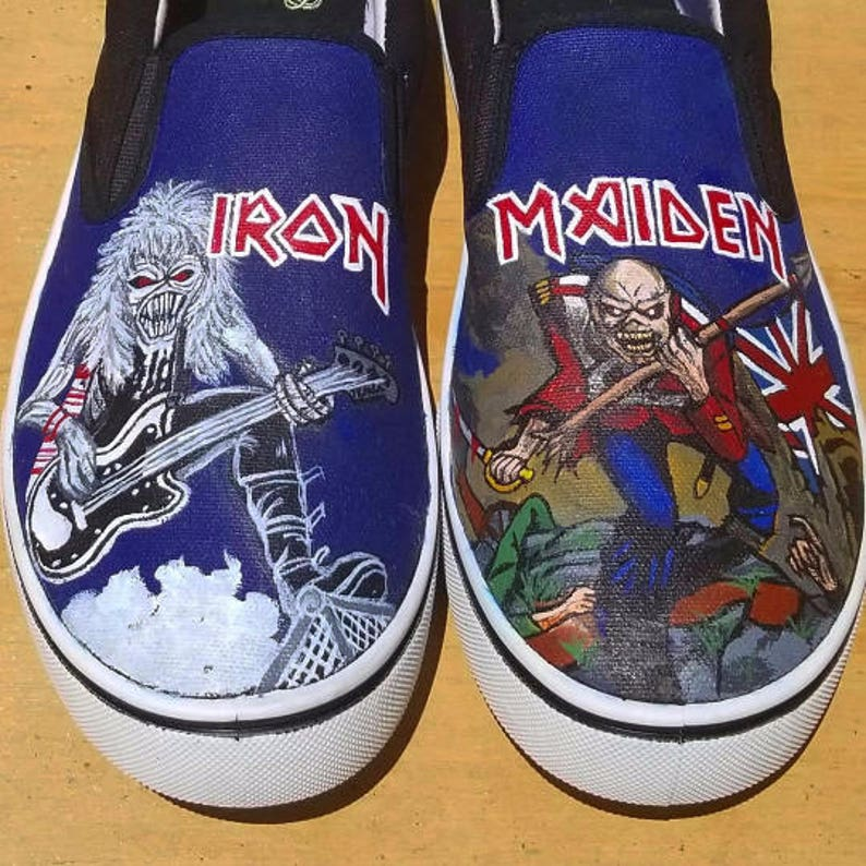 Iron Maiden Inspired Hand Painted Sneakers