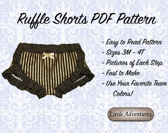 Ruffle Shorts Pattern Instant Download