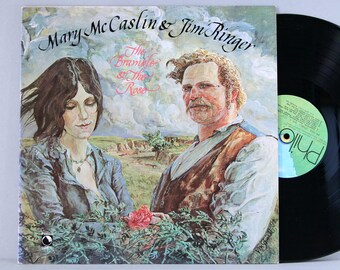 Mary McCaslin & Jim Ringer - The Bramble and The Rose - Vintage Vinyl Record Album 1978 Philo First Press