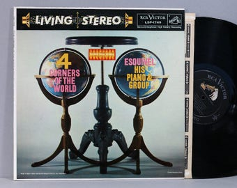 Esquivel, His Piano And Group - Four Corners Of The World - Vintage Vinyl LP Record Album 1958 Living Stereo