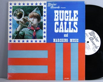 Bugle Calls and Marching Music - Vintage Vinyl LP Record Album Sound Effects