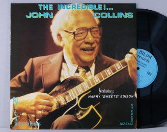 John Collins - The Incredible! - Vintage Vinyl Record Album 1982 France Press - Jazz Guitar - Harry Sweets Edison
