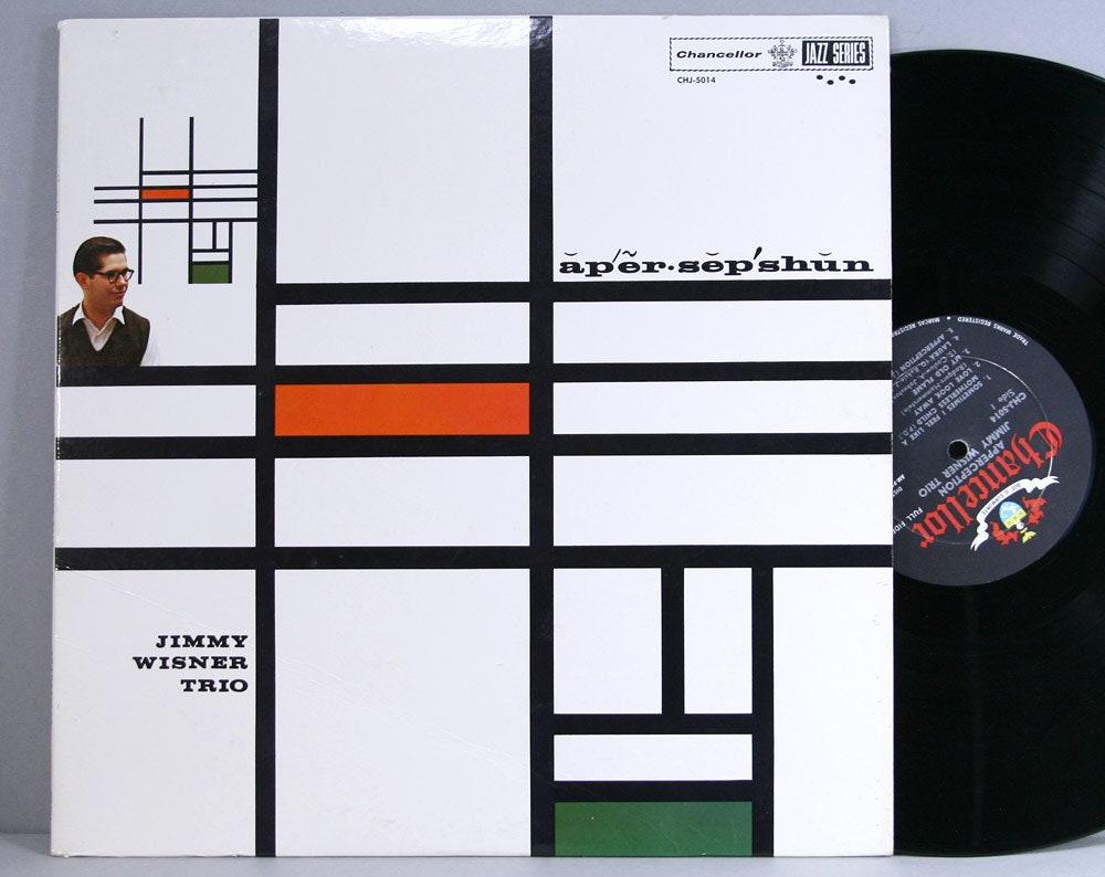 Jimmy Wisner Trio - Apperception - Apersepshun - Vintage Vinyl LP Record  Album 1960 Jazz Piano Chancellor Records Mono