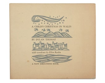A Childs Christmas In Wales.Dylan Thomas A Childs Christmas In Wales With Woodcuts By Etsy