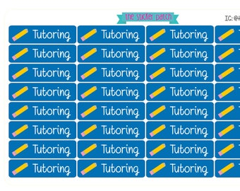 Tutoring planner stickers -  stickers for planners, journals, scrapbooks and more!