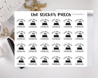 hot mess express stickers, snarky stickers  - stickers for planners, journals, scrapbooks and more!