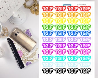 TGIF planner stickers - stickers for planners, journals, scrapbooks and more!