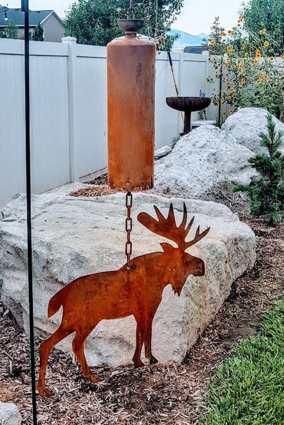 Copper Patina finish farmhouse animal barn home decor Chicken Bell wind chime