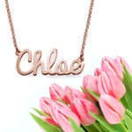 Cursive Name Necklace (rose gold)
