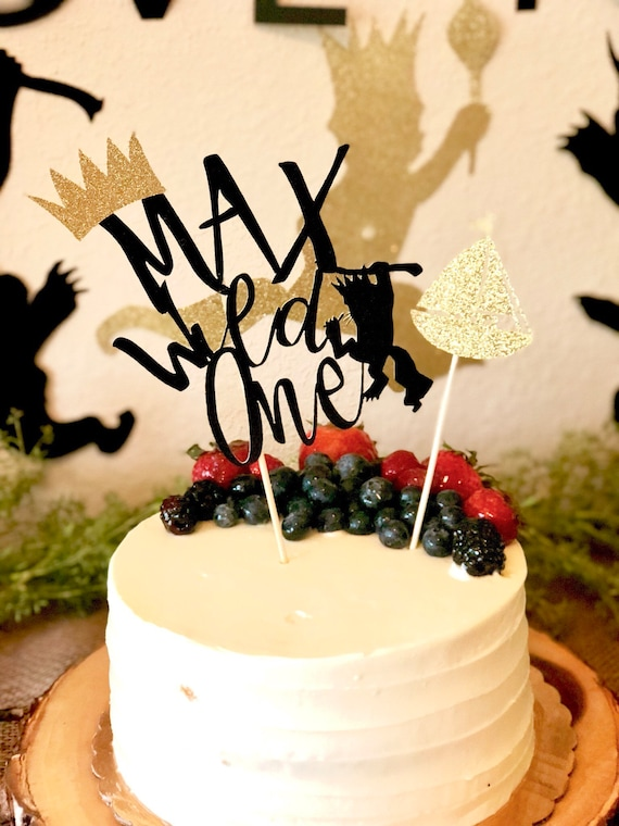 I/'ll eat you up I love you so cake topper  first birthday cake topper where the wild things are cake topper  wild things birthday