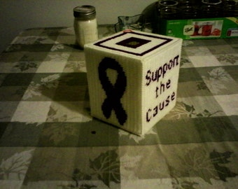 Relay for Life Plastic Canvas Tissue Box Cover