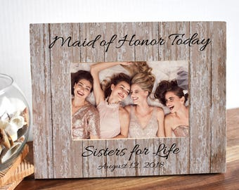 Maid of Honor Frame  Friend Gift  Wedding Gift  Maid of Honor Gift  Bridesmaid Gift Set  Bridesmaid Proposal, Bridesmaid Gift Ideas