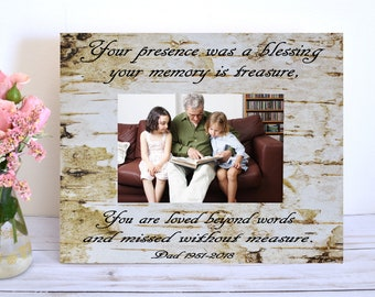 a0d03ba275e3 Memorial Gift Sympathy Gift Personalized Gift Memorial In memory of Dad  Loss of Father