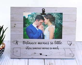 Long Distance Relationship Frame Etsy