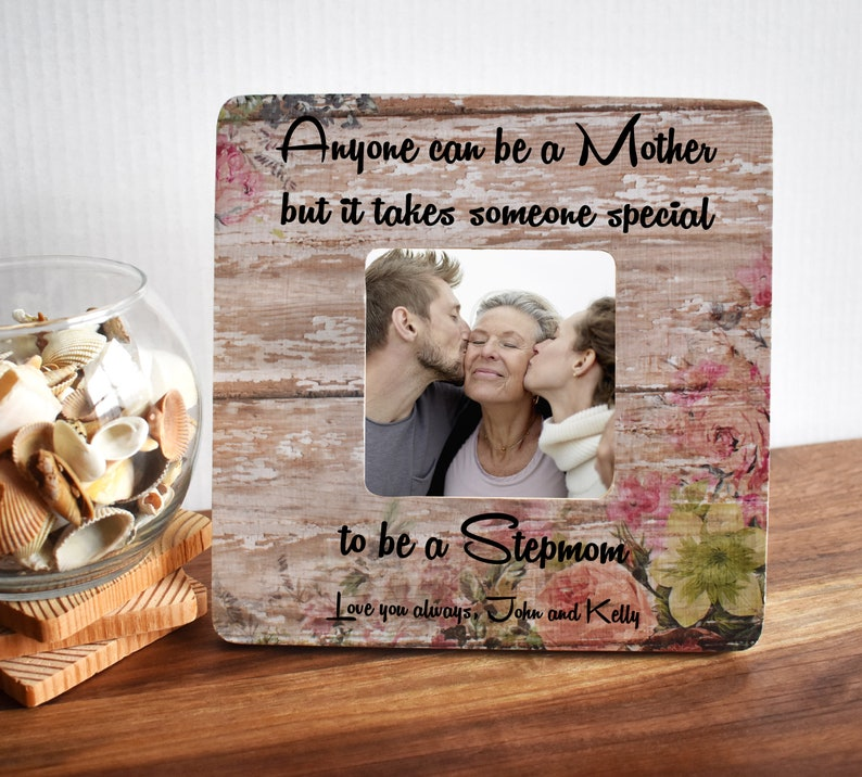 Gifts for Mom Mothers Day gift for Stepmom Personalized Picture Frame from Stepdaughter Best Selling Items Handmade Stepson