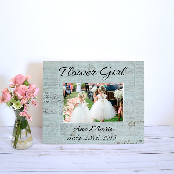 Flower Girl Proposal Picture Frame Gift From Bride Wedding Etsy