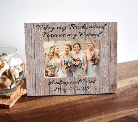 Bridesmaid Proposal Picture Frame Personalized Gift For